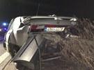 Na dálnici D8 u Veltrus se ve směru na Prahu srazilo osm aut.
