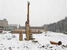 Pohled na staveni�t� budovy pro superpo��ta� v are�lu ostravsk� V�B-TU. (14.