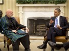 Afghánský prezident Hamíd Karzáí přijel do Washingtonu na jednání s prezidentem