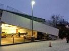 U hypermarketu Globus na Zličíně se v neděli v noci propadl sgtrop nadzemních