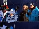 Prezident V�clav Klaus na startu 46. ro�n�ku Jizersk� pades�tky (13. ledna 2013)