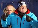 Prezident Václav Klaus na startu 46. ročníku Jizerské padesátky (13. ledna 2013)