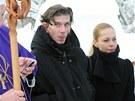 Na poslední rozloučení dorazil také režisér Jiří Strach.