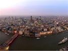 Výhled z londýnského mrakodrapu Střep
