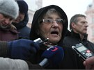 Na olomoucký protest proti zástupcům KSČM ve vedení kraje přišla v pondělí 14.