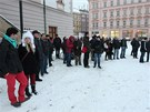 Na olomouckém protestu proti zástupcům KSČM ve vedení kraje se v pondělí 14.