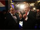 Prezidentští kandidáti Karel Schwarzenberg a Miloš Zeman během televizní debaty