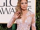 Jennifer Lopezov� v t�lov� r�b� s b�lou v�ivkou, kterou navrhl libanonsk�...