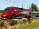 Vlak společnosti Thalys na trati v Nizozemsku