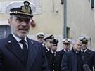 Jedním z účastníků ceremonie byl i Gregorio de Falco z italské pobřežní stráže.