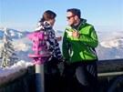 Michael Foret s p��telkyn� Eli�kou v rakousk�m Kitzb�helu.
