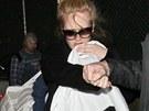 Zpěvačka Adele se synem, jehož jméno zatím tají (10. ledna 2013).