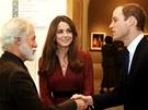 Malíř Paul Emsley, vévodkyně z Cambridge Catherine a princ William v londýnské