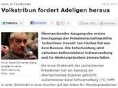 O boji o Pražský hrad například píše německý Berliner Zeitung