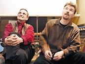Autoři televizního cyklu Šumná města Radovan Lipus (vpravo) a David Vávra