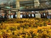 Model pravěké krajiny v muzeu pravěku ve Všestarech. (15. 1. 2013)
