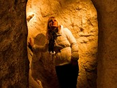 Důlní šachty v muzeu pravěku ve Všestarech. (15. 1. 2013)