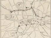 Schematická mapa podpovrchové dopravy z let 1931-1933 od Harryho Becka