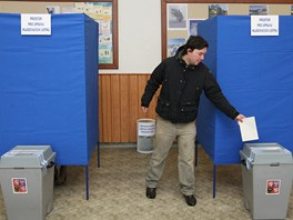 První kolo prezidentských voleb v Jablunkově na Frýdecko-Místecku.