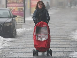 Mlha? Ne, smog. I centrum Ostravy tr�p� nadlimitn� koncentrace pol�tav�ho