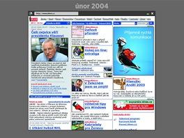 Domovská stránka iDNES.cz v únoru 2004.
