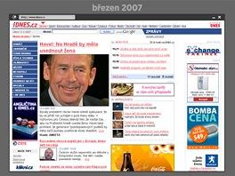 Zprávy.iDNES.cz v březnu 2007