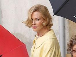 Nicole Kidmanov� p�i nat��en� filmu Grace of Monaco