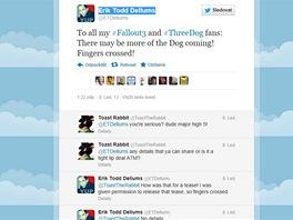 Herec Erik Todd Dellums na Twitteru nazna�uje n�vrat postavy z Fallout 3.