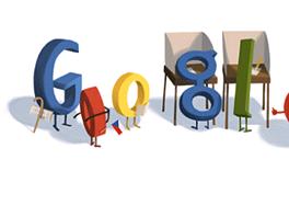 Google Doodle u příležitosti prezidentských voleb