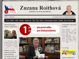 Oficiální stránka kampaně Zuzany Roithové