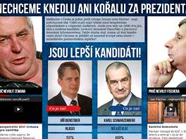 Stránka LepsiPrezident.cz si dala za cíl, aby do druhého kola postoupila jiná