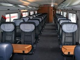 Ve vagoně 1. třídy německého Intercity-Expressu třetí generace