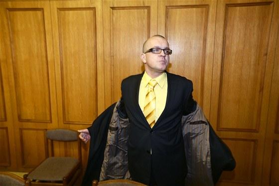Jaroslav Škárka u Obvodního soudu pro Prahu 5. (23. ledna 2013)