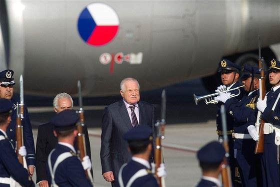 Prezident Václav Klaus při státní návštěvě jihoamerického Chile. (26. ledna