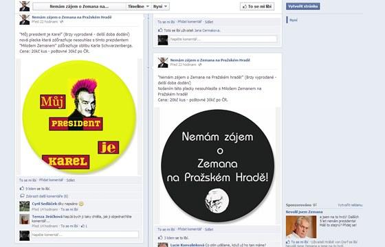 Lidé, kteří odmítají Miloše Zemana za svého prezidenta, se sdružují i na