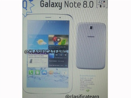 První obrázek Samsung Galaxy Note 8.0