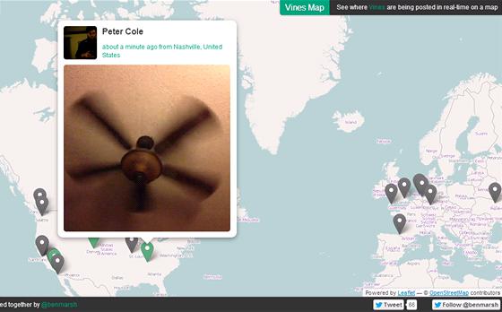 Stránka Vinemaps.com ukazuje natočená videa v reálném čase podle lokace.
