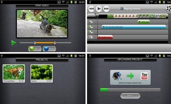 Podobn� jako dal�� videoeditory pro Android lze AndroMedia Video Editor