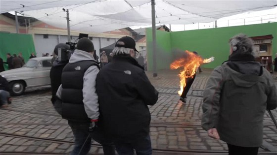 hořící keř making of