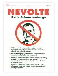Inzer�t NEVOLTE Karla Schwarzenberga, kter� vy�el v p�te�n�m Blesku