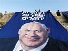 Parlamentní volby v Izraeli. Reklama šéfa strany Likud Benjamina Netanjahua