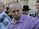 Naftali Bennett, šéf izraelské strany Židovský domov (22. ledna 2012)