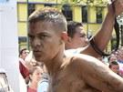 Zásah policie ve venezuelské věznici Uribana (26. ledna 2014)