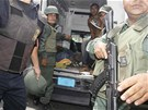 Zásah policistů ve venezuelské věznici Uribana (26. ledna 2014)