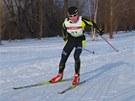 Helena Erbenová na lyžařském úseku zimního triatzlonu.