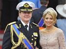 Princ Willem-Alexander se svou ženou Máximou