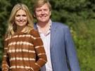 Princ Willem-Alexander se svou ženou Máximou v civilu.