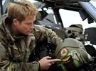 Britský princ Harry během své druhé mise v Afghánistánu