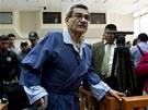 Někdejší guatemalský generál Mauricio Rodriguéz u soudu (28. leden 2013)