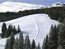 Pasáž s prudšími sjezdovkami v Alpe di Siusi